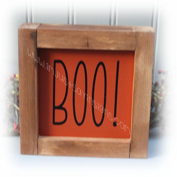 Boo Farmhouse Framed Sign