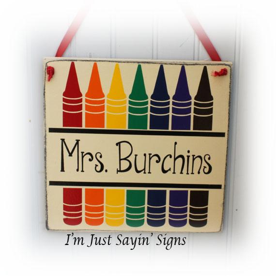 Custom Classroom Teacher Name Wood Sign