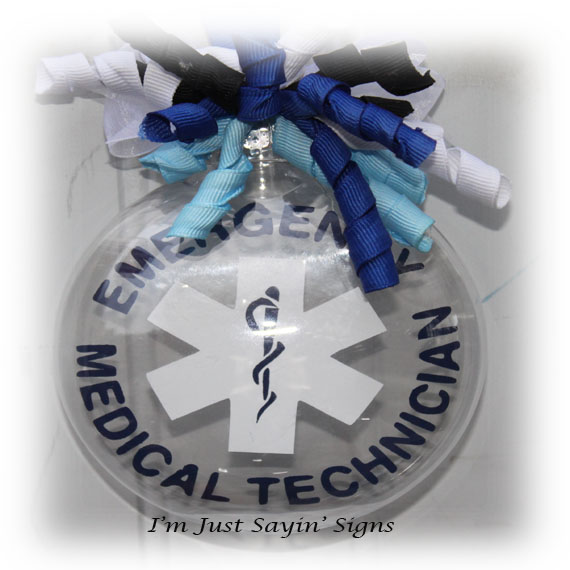 Emergency Medical Technician Christmas ornament