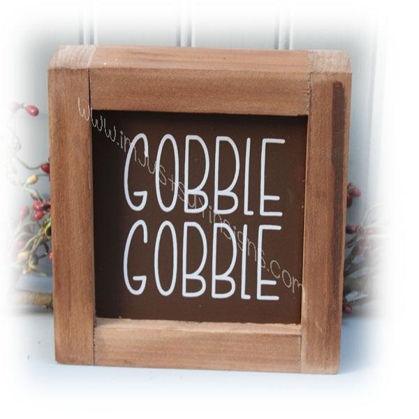 Gobble Gobble Mini Farmhouse Sign