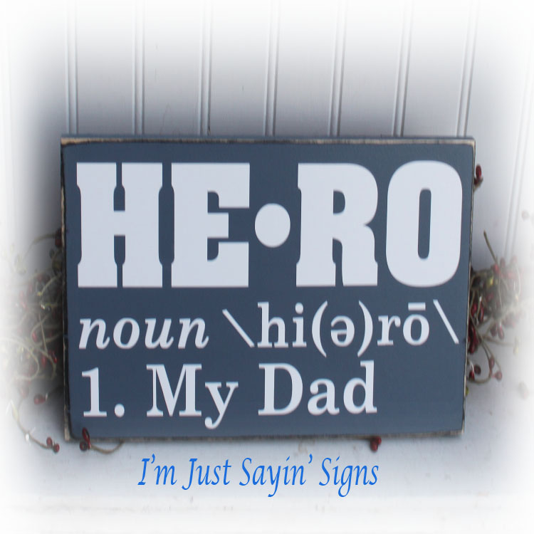 Hero Definition Wood Sign