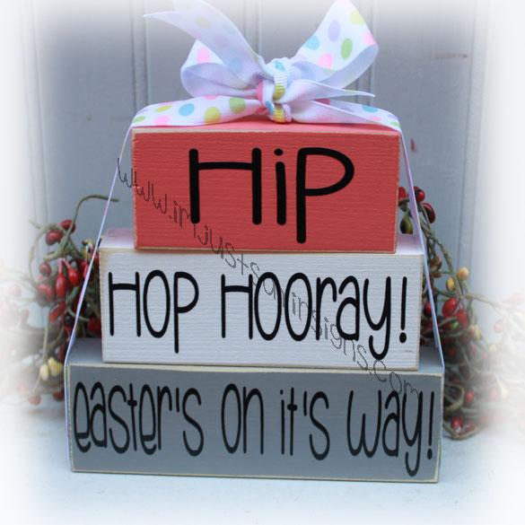 Hip Hop Hooray Easter's On It's Way Itty Bitty Easter Blocks