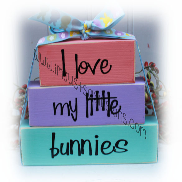 I Love My Little Bunnies Easter Itty Bitty Blocks