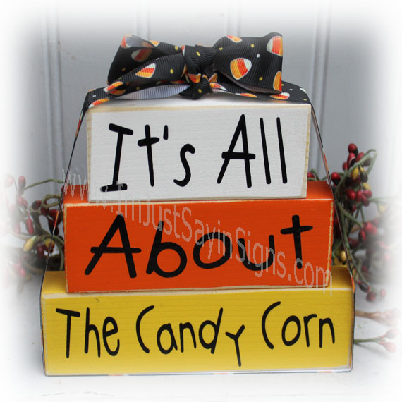 It's All About The Candy Corn Itty Bitty  Blocks