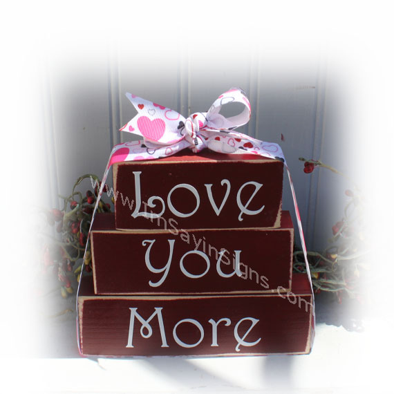 Valentine Love You More Itty Bitty Blocks