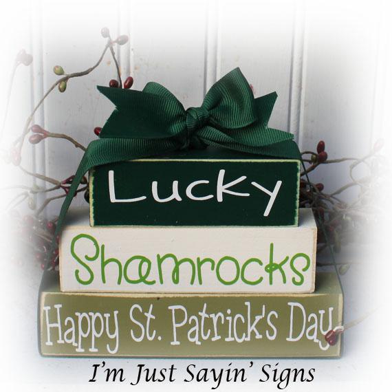 Lucky Happy St. Patrick's Day Itty Bitty Blocks