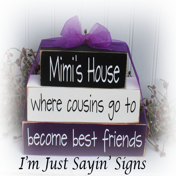 Mimis House Where Cousins Go To Become Best Friends Wood Stacking Blocks