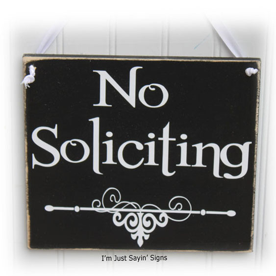 Door Sign No Soliciting
