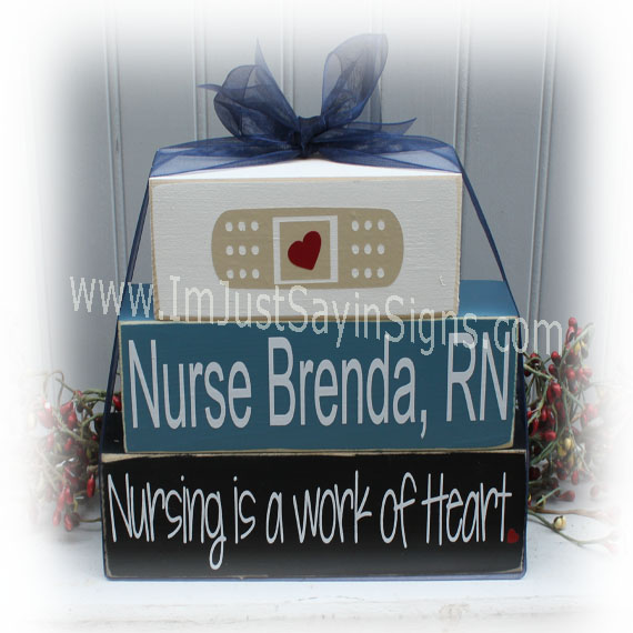 Nursing Is A Work Of Heart Blocks Custom