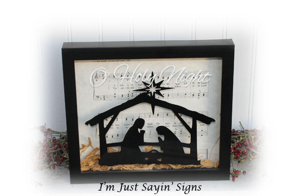 O Holy Night Shadow Box