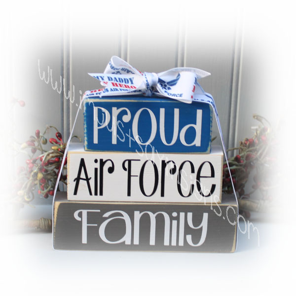 Proud Air Force Family Military Itty Bitty Blocks