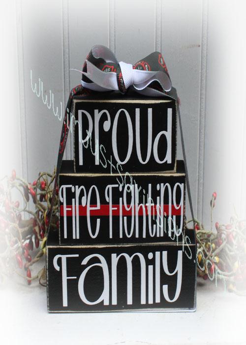 Firefighter Blocks Proud Firefighter Family Itty Bitty Blocks